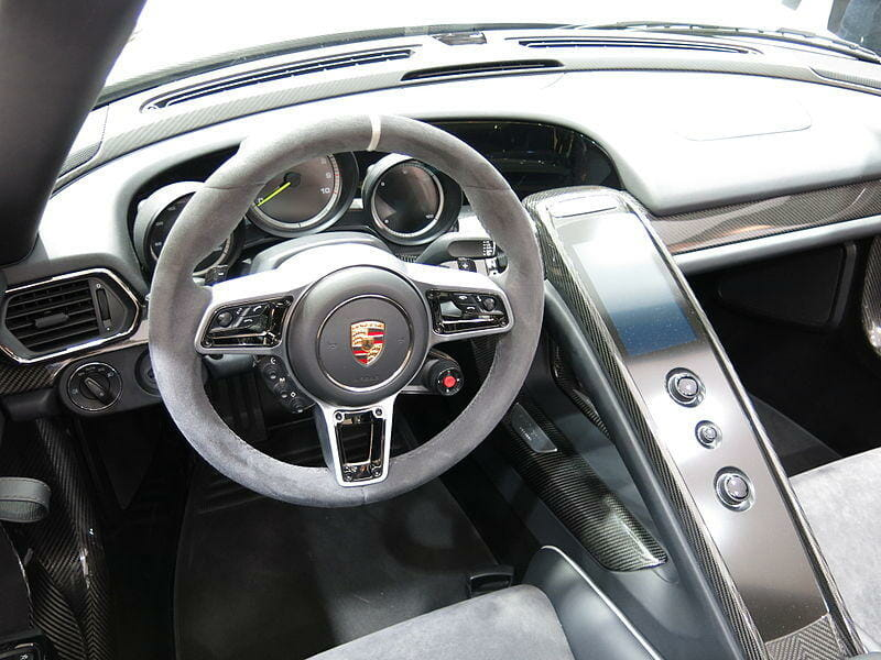 the 7 most beautiful steering wheels in the world how much did porsche spend on 918 steering. Black Bedroom Furniture Sets. Home Design Ideas